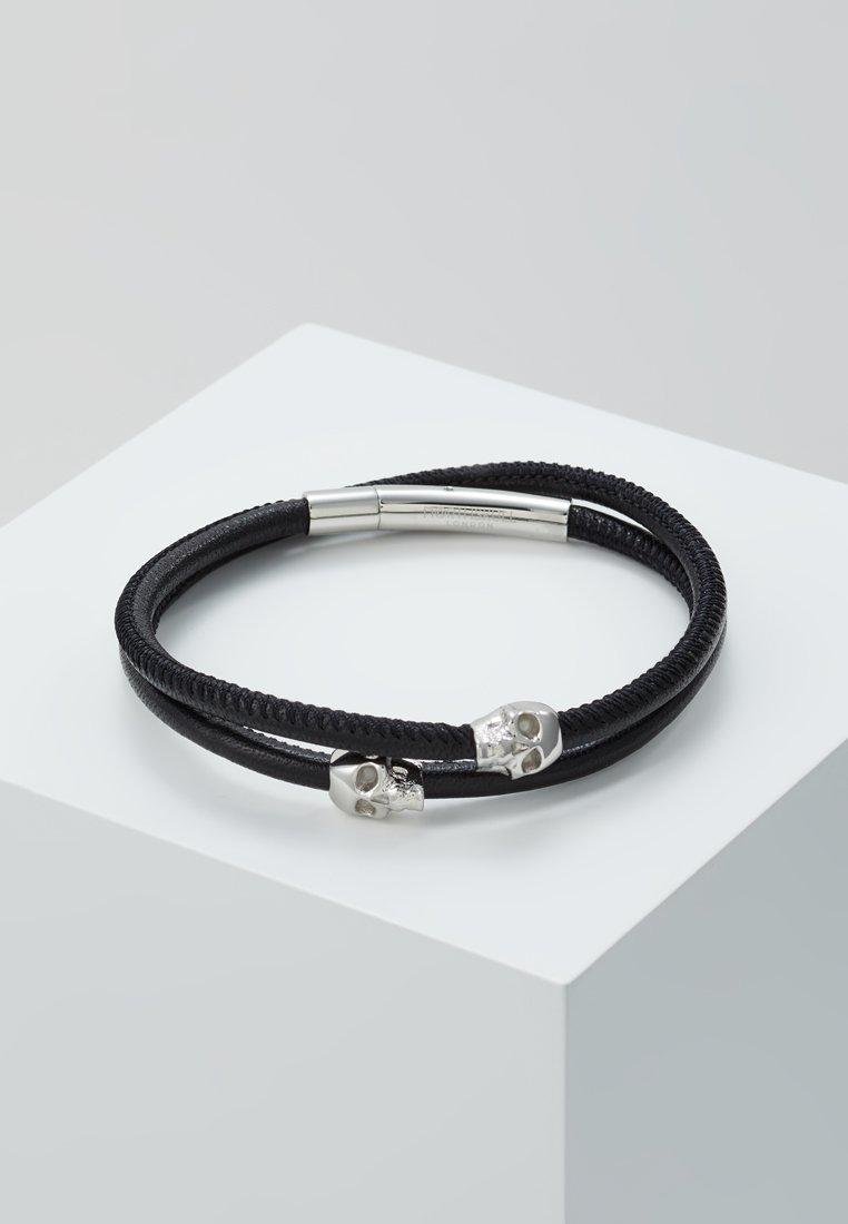 Northskull - SKULL WRAP AROUND BRACELET - Armband - black/silver-coloured