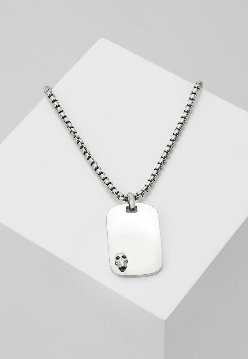 Northskull - ATTICUS SKULL TAG NECKLACE - Ketting - silver-coloured