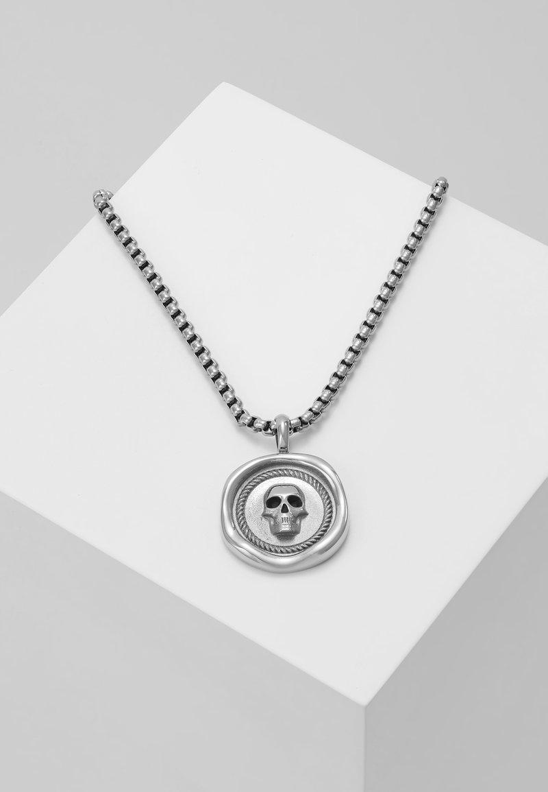 Northskull - ATTICUS SKULL PENNYNECKLACE - Ketting - silver-coloured