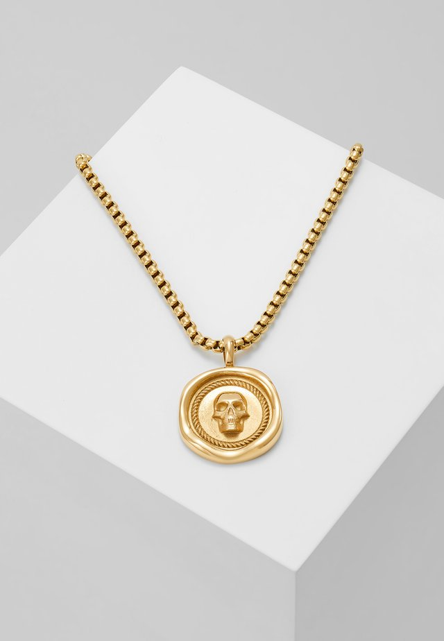 ATTICUS SKULL PENNYNECKLACE - Collier - gold-coloured