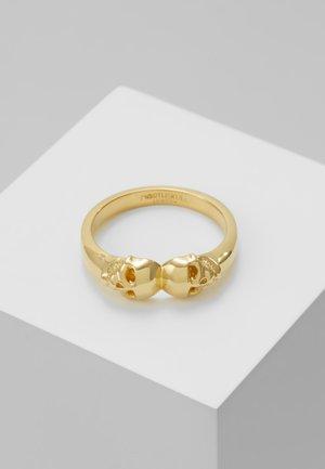 ATTICUS TWIN SKULL - Anello - gold-coloured