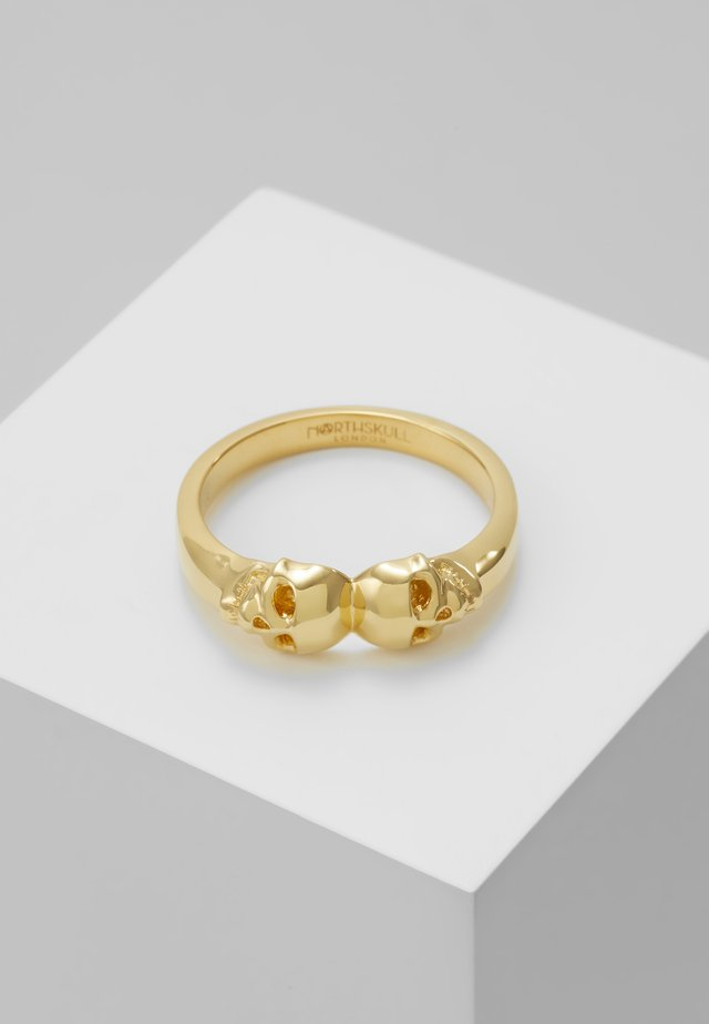 ATTICUS TWIN SKULL - Ring - gold-coloured