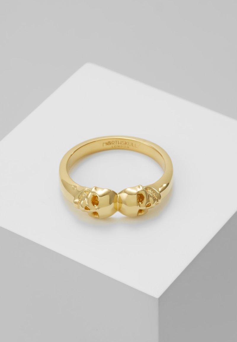 Northskull - ATTICUS TWIN SKULL - Prsten - gold-coloured