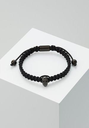 ATTICUS SKULL MACRAMÉ BRACELET - Armbånd - black
