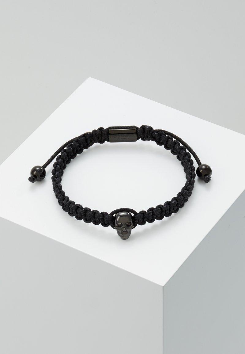 Northskull - ATTICUS SKULL MACRAMÉ BRACELET - Bracelet - black