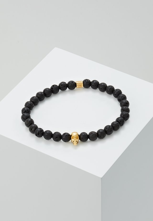 SKULL BRACELET - Náramek - black/gold-coloured