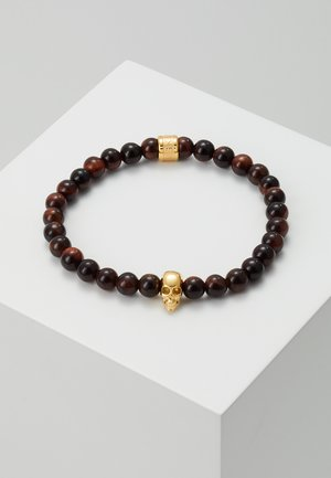 SKULL BRACELET - Náramek - gold-coloured/brown