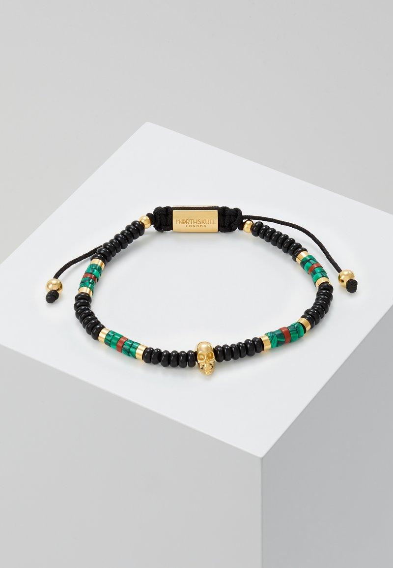 Northskull - SKULL MACRAMÉ BRACELET - Armband - black/gold-coloured