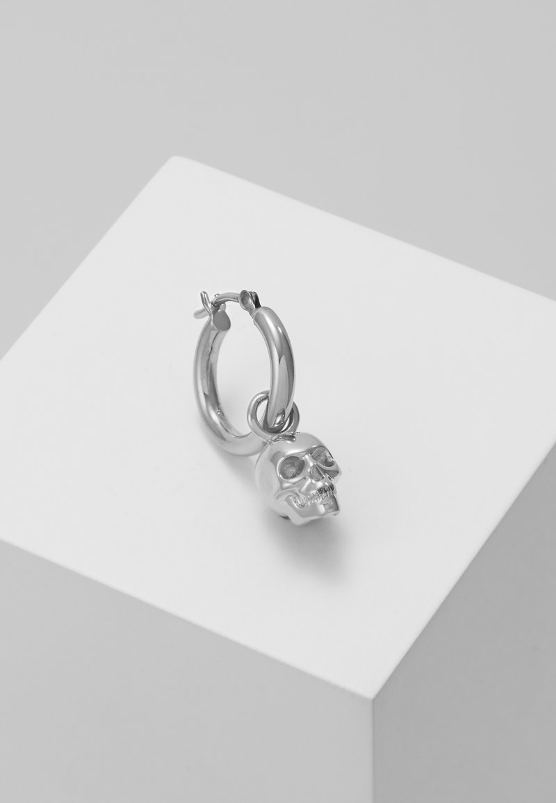 Northskull - ATTICUS SKULL HOOP EARRING - Pendientes - silver-coloured