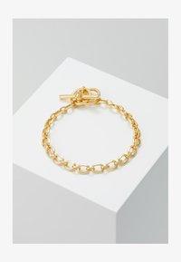 Northskull - ATTICUS SKULL BAR CHAIN BRACELET - Armbånd - gold-coloured - 2