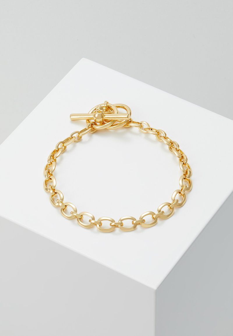 Northskull - ATTICUS SKULL BAR CHAIN BRACELET - Armband - gold-coloured