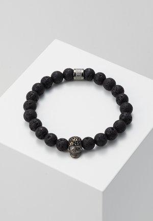LAVASTONE CHARM BRACELET - Armbånd - black