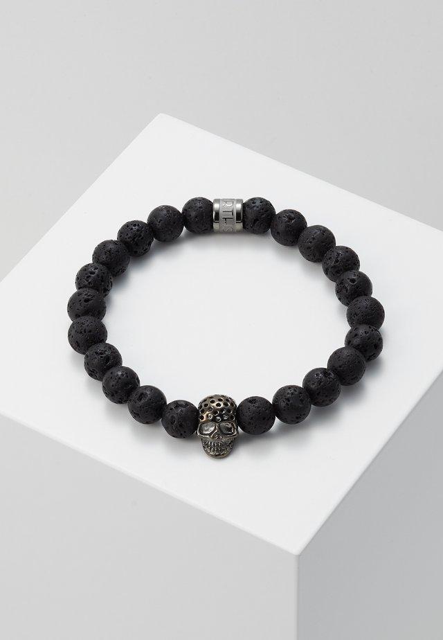 LAVASTONE CHARM BRACELET - Armband - black