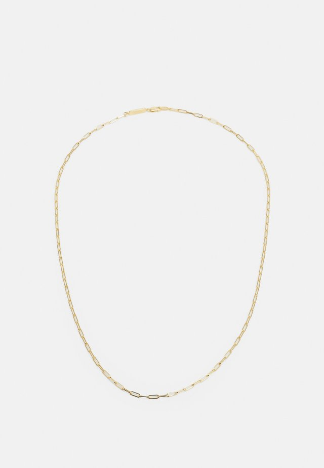 RECTANGULAR CHAIN NECKLACE - Collier - gold-coloured