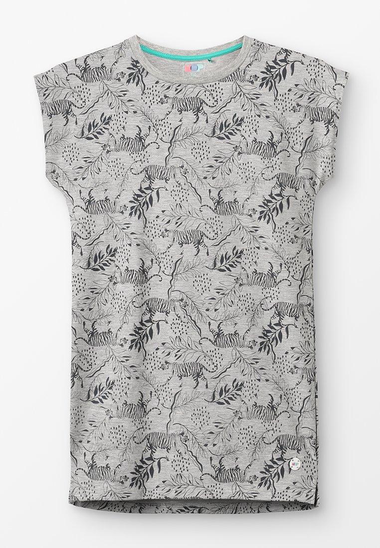 NOP - DRESS BATAVIA  - Jerseykjoler - grey melange