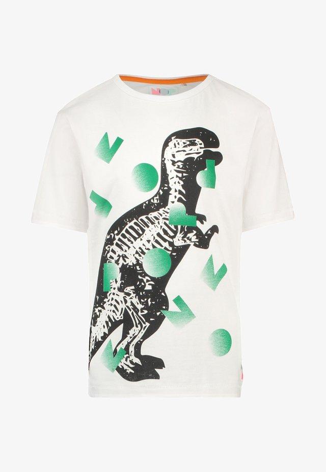 VERONIQUE - T-Shirt print - green/white