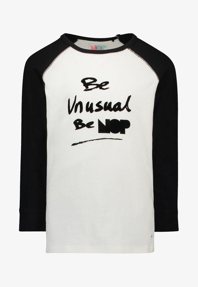 YORK - Sweatshirt - black/white