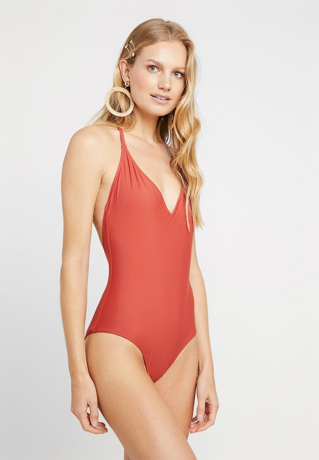 BEACH ONE PIECE - Maillot de bain - terracotta