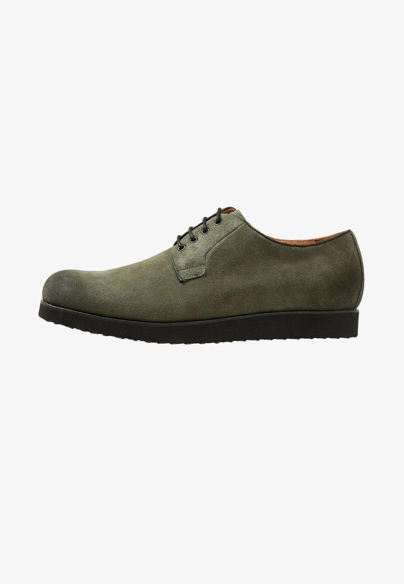 NOIRE LINE - MARC - Volnočasové šněrovací boty - olive