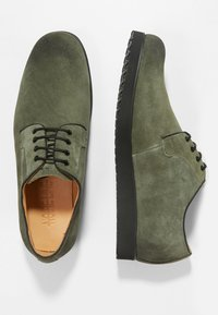 NOIRE LINE - MARC - Volnočasové šněrovací boty - olive - 1