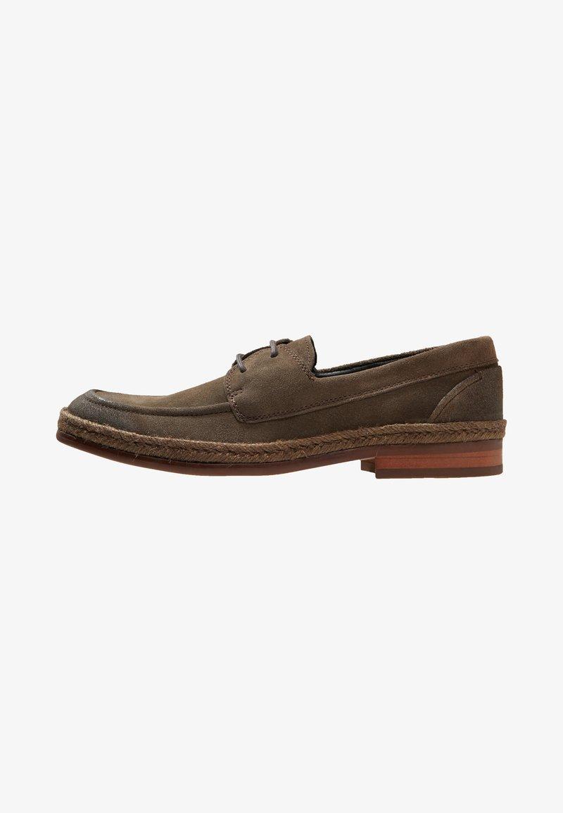 NOIRE LINE - WOOD - Volnočasové šněrovací boty - brown