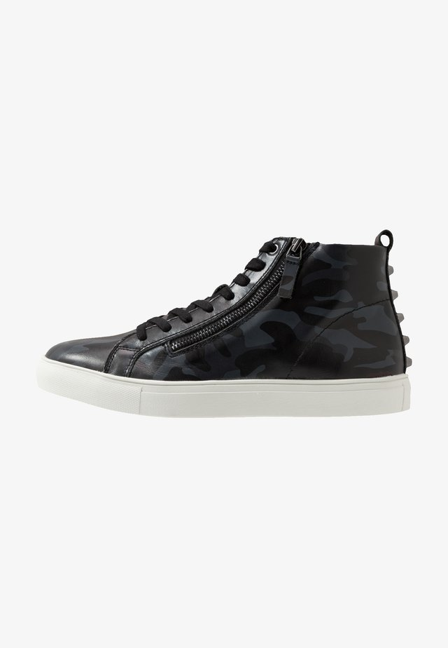 NICK - High-top trainers - black/navy