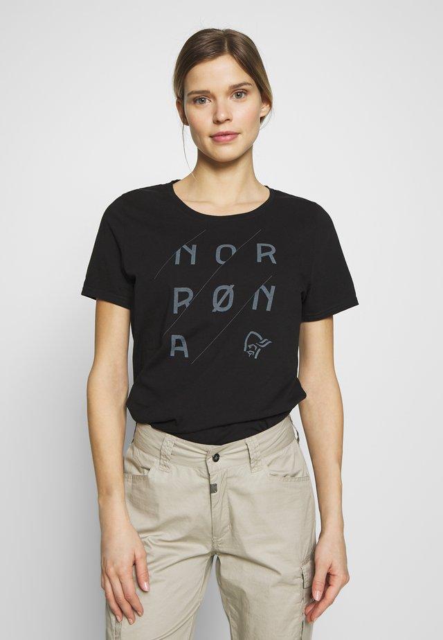 SLANT LOGO - T-shirts med print - caviar