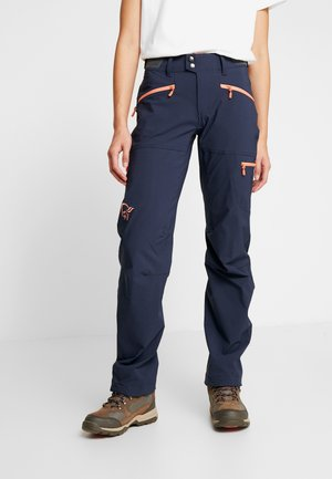 FLEX PANTS - Outdoor-Hose - indigo night/melon