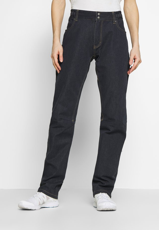 SVALBARD PANTS - Tygbyxor - denim