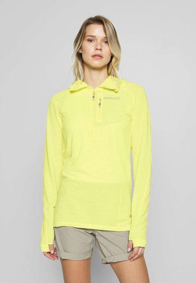 BITIHORN WARM STRETCH HOODIE - Bluza z polaru - sunny lime