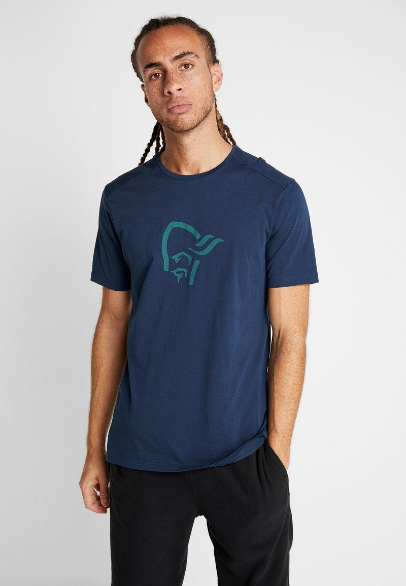 Norrøna - T-shirt med print - indigo night