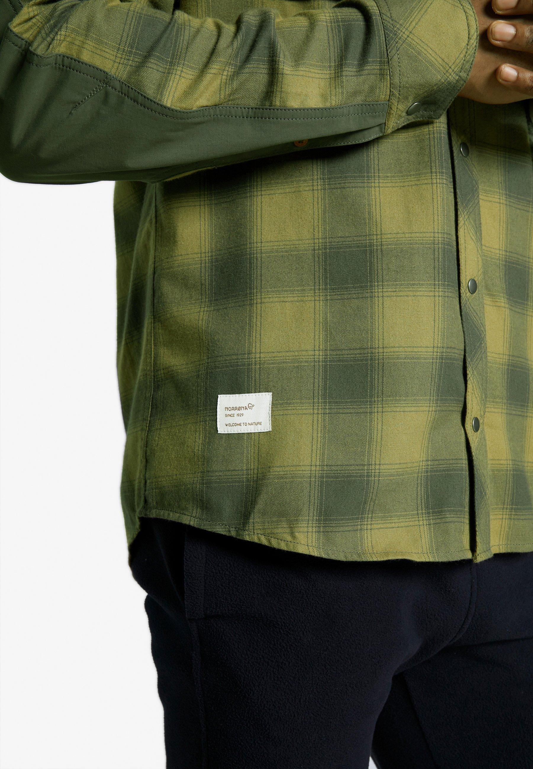 Norrøna Svalbard - Camicia Olive Drab/slat qd62S