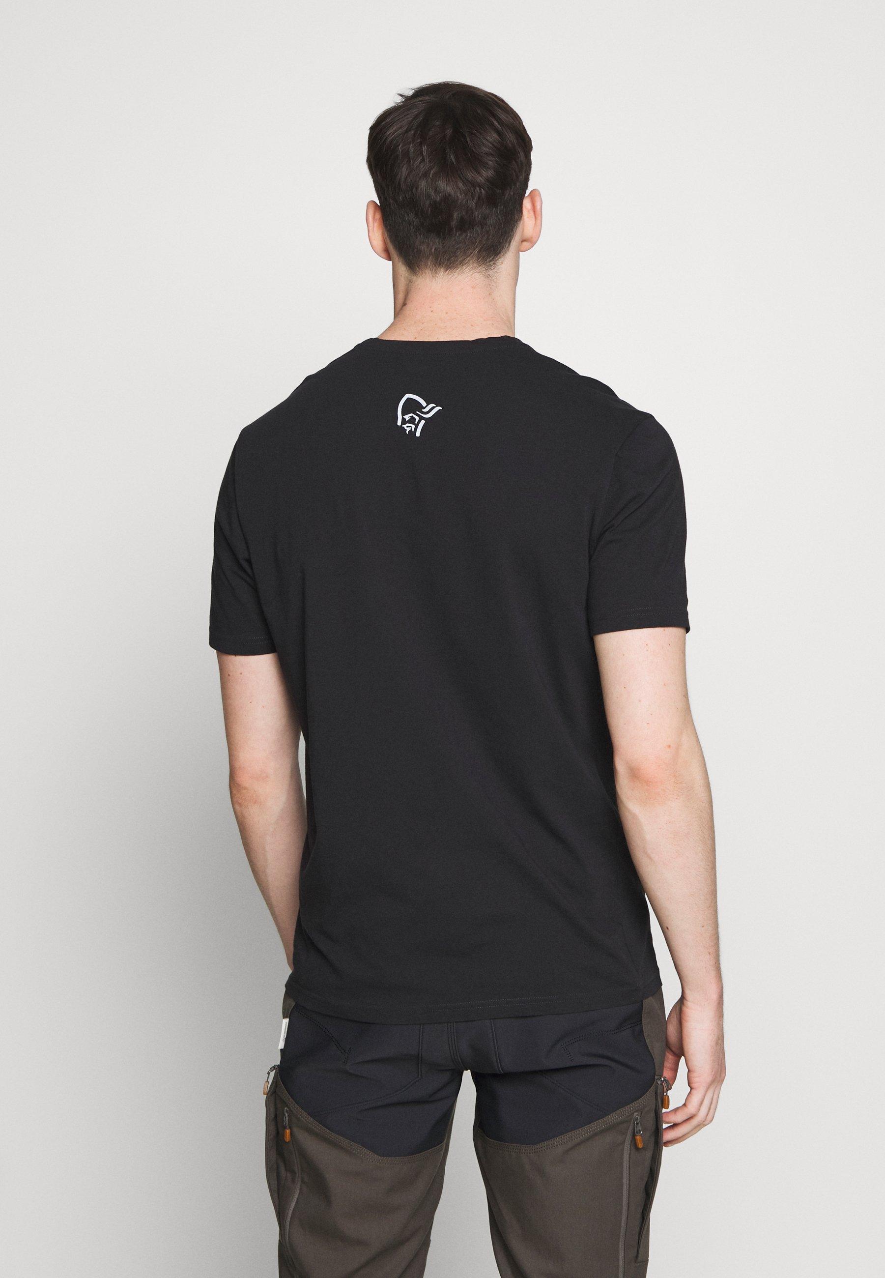 Norrøna Range - T-shirt Med Print Caviar