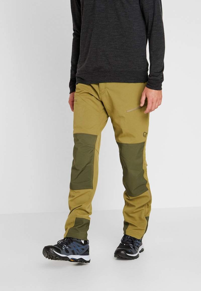 Norrøna - SVALBARD HEAVY DUTY PANTS - Trousers - olive drab