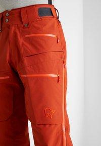 Norrøna - LOFOTEN GORE-TEX INSULATED PANTS - Snow pants - rooibos tea - 3