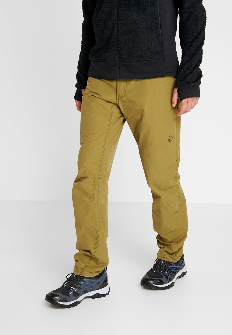Norrøna - SVALBARD PANTS - Pantalon classique - olive drab