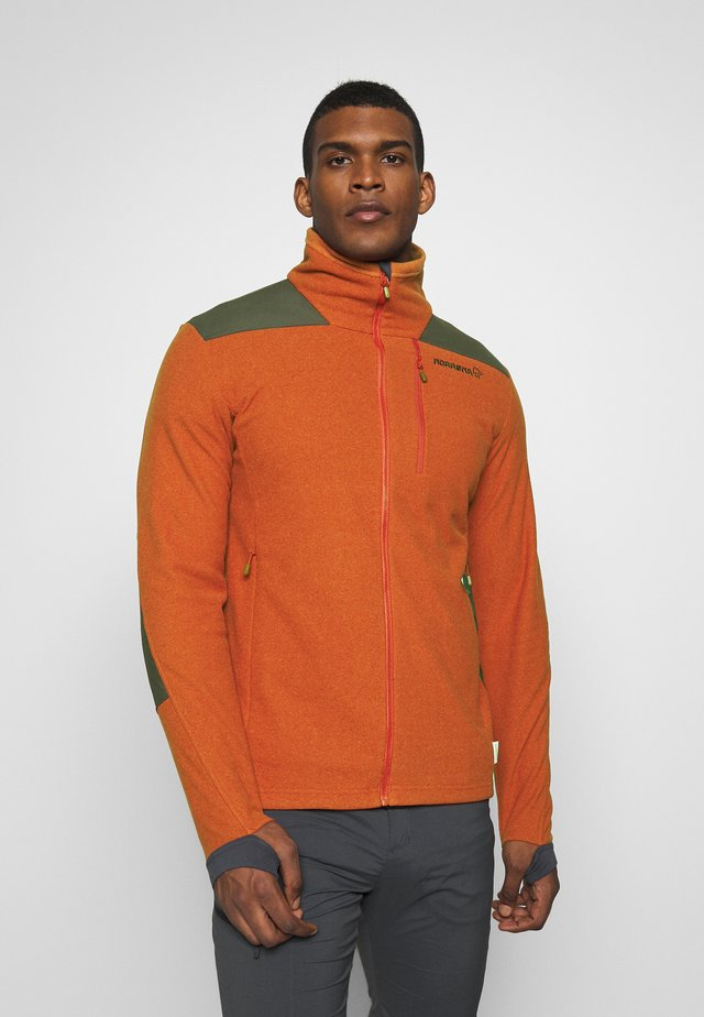 SVALBARD WARM JACKET  - Fleecejacka - rooibos tea