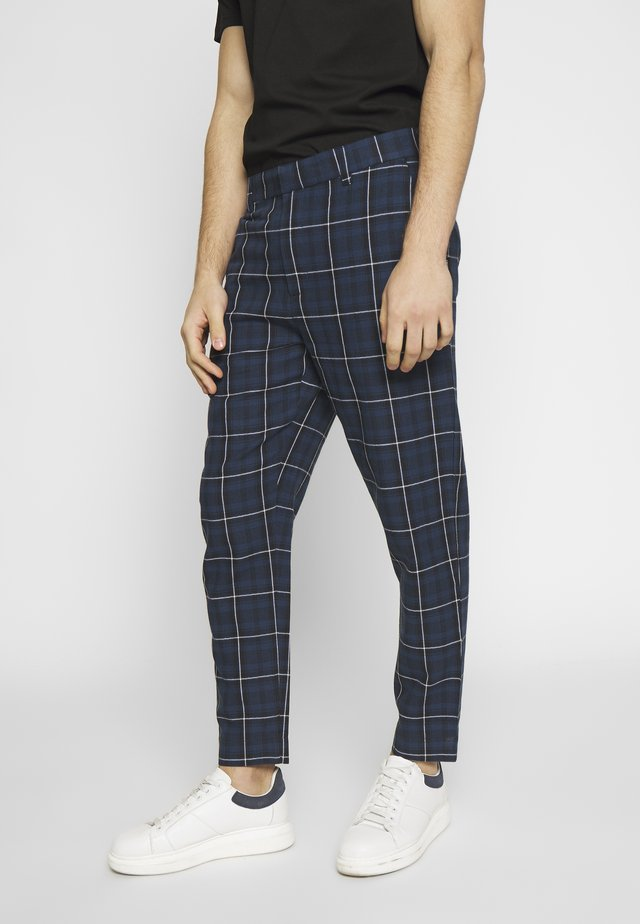 ROW TROUSER - Tygbyxor - navy