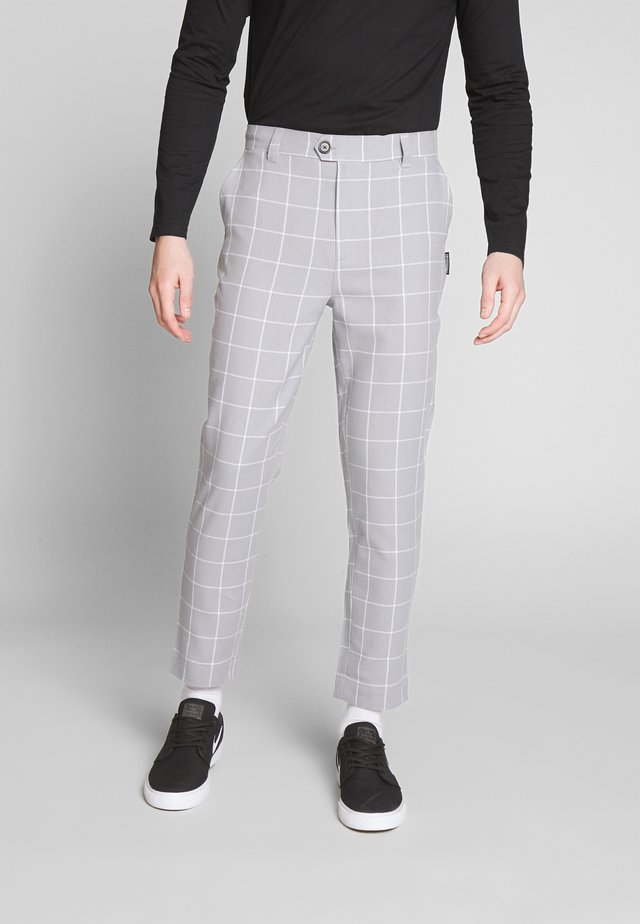 KARL TROUSER - Tygbyxor - mid grey