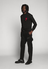 Nominal - COLLIER PANT - Straight leg jeans - black - 1