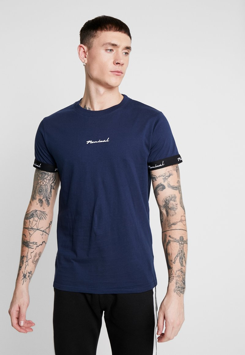 Nominal - WORTH - Print T-shirt - navy