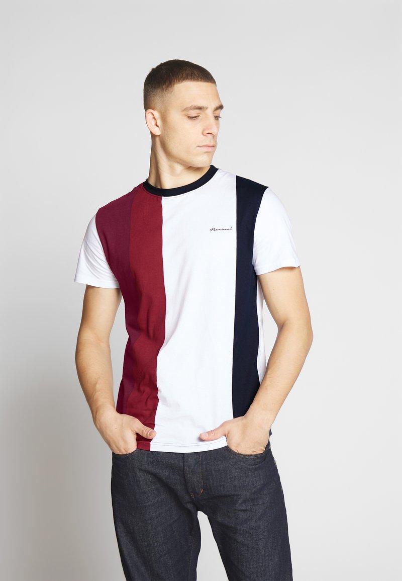 Nominal - LIME - Print T-shirt - burgundy