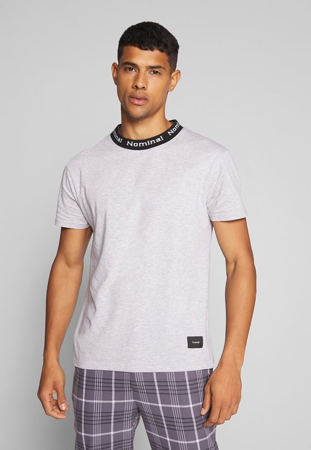 SANDER TEE - Print T-shirt - heather grey