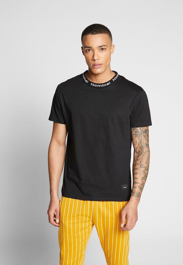 SANDER TEE - T-shirt z nadrukiem - black