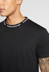 Nominal - SANDER TEE - Print T-shirt - black - 5
