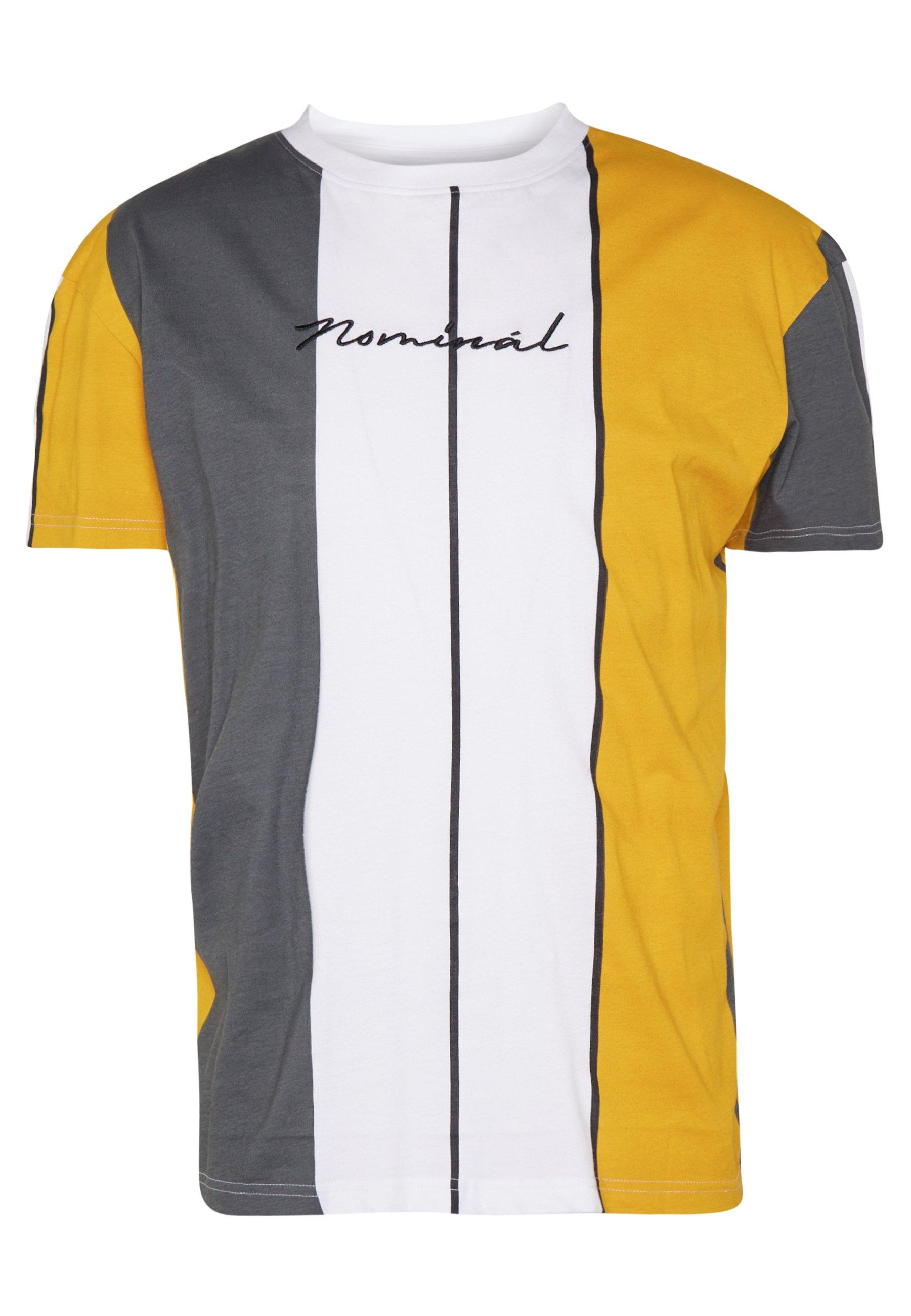 Nominal HOWARD TEE - T-shirt z nadrukiem - mustard