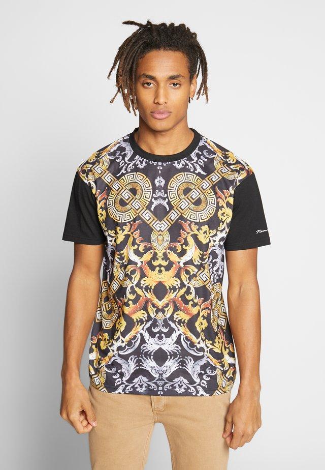 MONTY TEE - T-shirt z nadrukiem - black