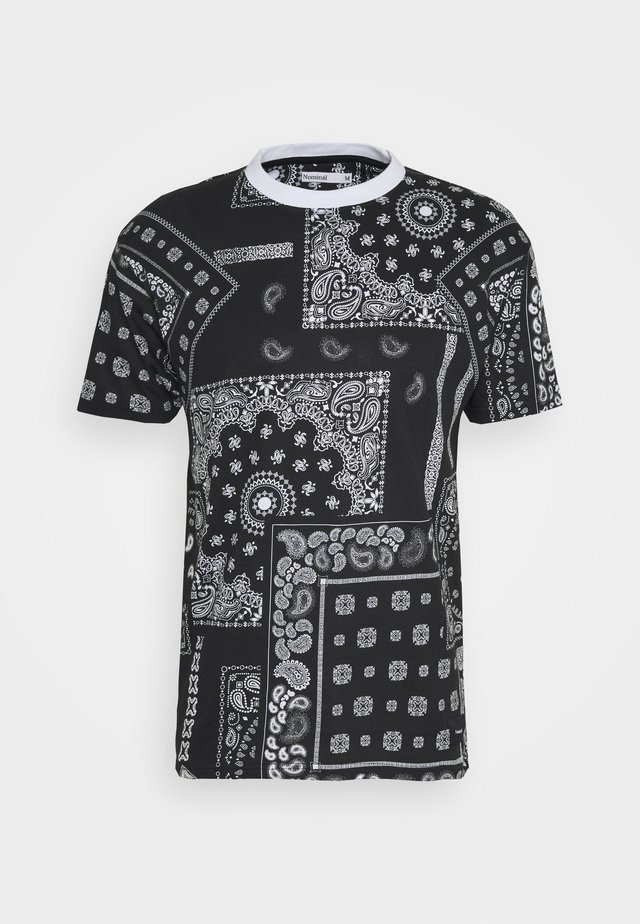 KELVIN  - T-shirt imprimé - black