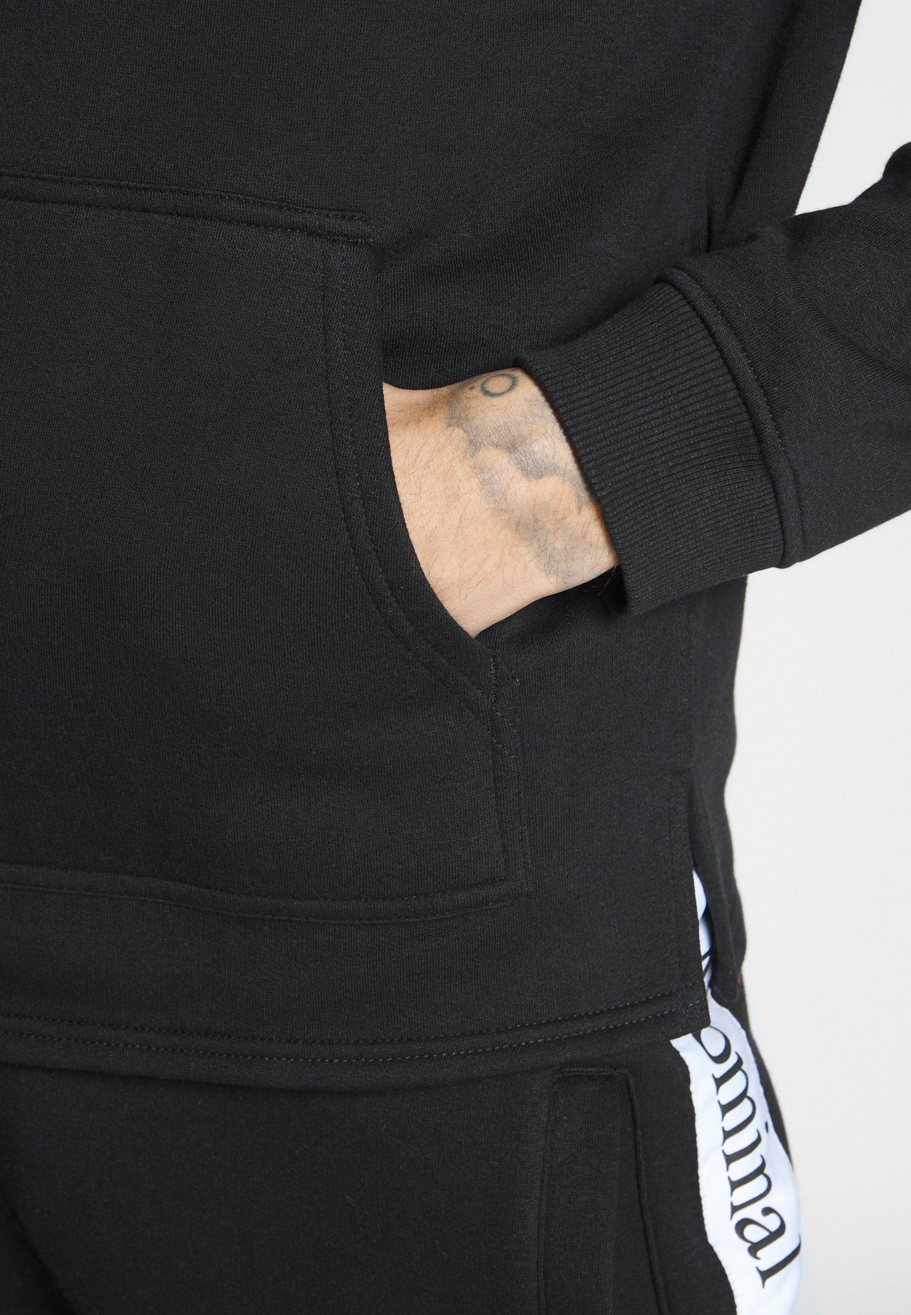 Nominal ARCHER HOOD - Bluza z kapturem - black