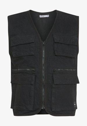 HENRY UTILITY VEST - Waistcoat - black